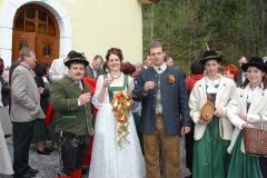 04.3.Hochzeitsständchen Barbara Steurer und Ewald Schenner
