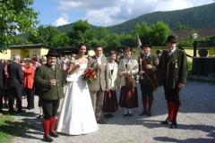 2006-06-11.Hochzeitsständchen Karin Wallner und Markus Postl