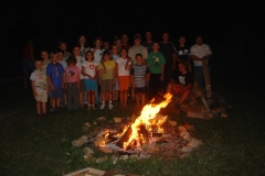 2006-07-29.Kinder-Zeltlager mit Lagerfeuer