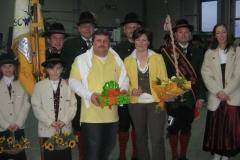 2008-02-23.Obmann Herwig Schnitzler - Ständchen zum 40er