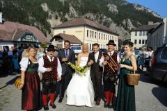 2010-08-21.Hochzeitsständchen Patricia Triebl-Markus Alfanz