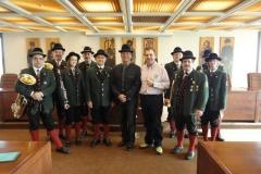 2010-10-23.Ein Hutsammler beim Bürgermeister
