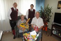 2011-06-16.Ehrenmitglied Walter Graf - Besuch zum 80er